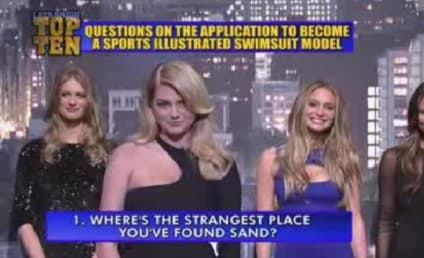 Kate Upton, Sports Illustrated Swimsuit Models Read Late Show Top Ten List