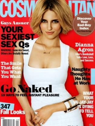 Dianna Agron Cosmo Cover