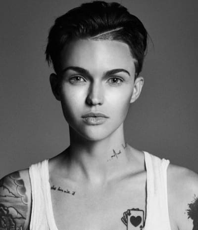 Ruby Rose in Black-and-White.
