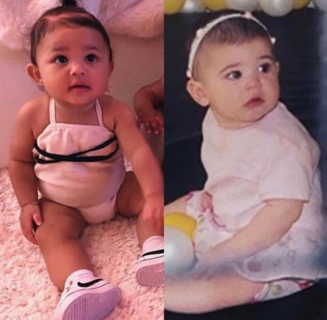 Kylie Jenner and Stormi Webster, Side-By-Side Baby Pics 01