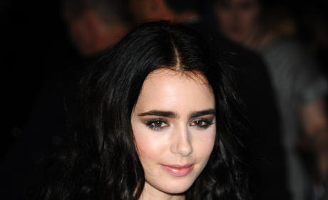Lily Collins in London