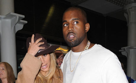 Kim Kardashian and Kanye in Paris