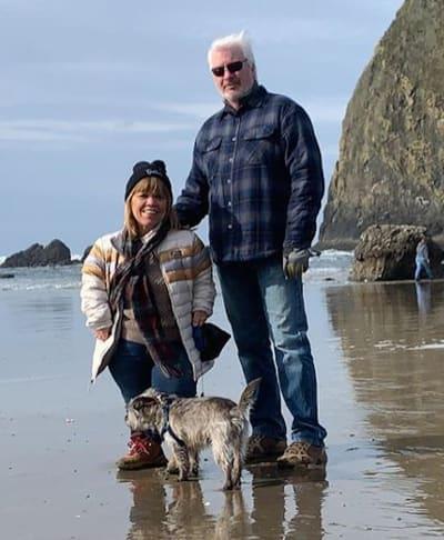 Amy Roloff and Chris Marek on the Beach