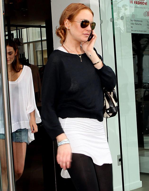 Lindsay Lohan on the Phone
