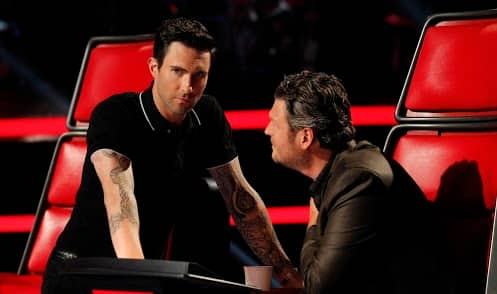 Adam and Blake on The Voice