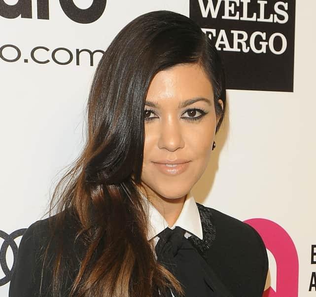 Kourtney Kardashian Smiles