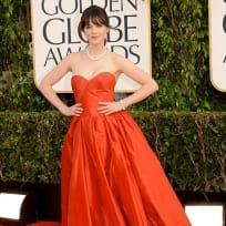 Zooey Deschanel Golden Globes Dress