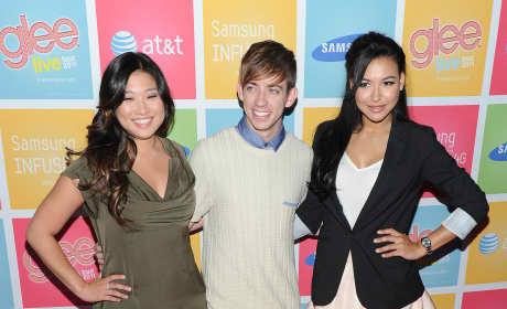 Jenna Ushkowitz Kevin McHale Naya Rivera Glee Samsung AT&T Event