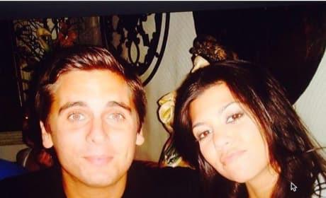 Kourtney Kardashian and Scott Disick Throwback Pic