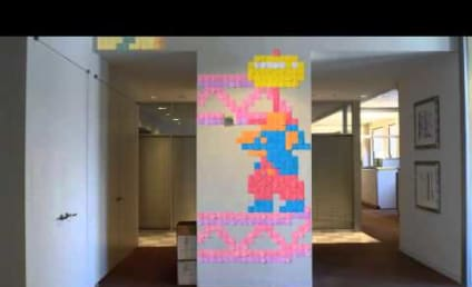Pac-Man and Donkey Kong: Stop-Motion Post-It Note Style!