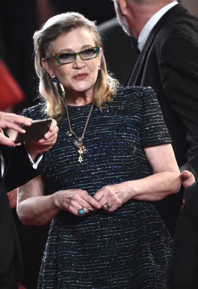 Carrie Fisher in Cannes