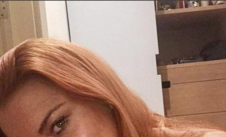 Lindsay Lohan Topless Instagram Photo