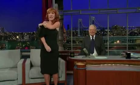 Kathy Griffin Strips on The Late Show