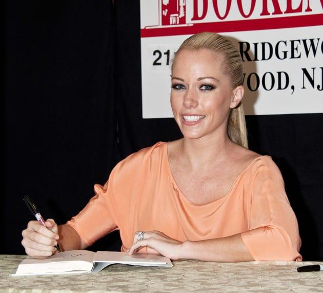 Kendra at a Signing