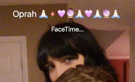 Lindsay Lohan FaceTimes With Oprah