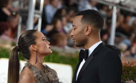 Chrissy Teigen and John Legend at the Globes