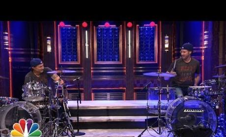 Will Ferrell vs. Chad Smith: It's a Drum-Off!