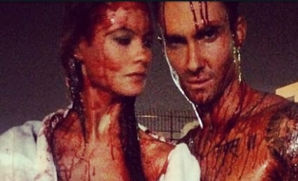 Adam Levine and Behati Prinsloo: Naked, Covered in Blood on Instagram