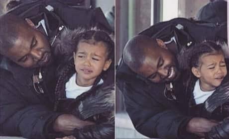 "Kim Kardashian Instagrams Photo of Kanye West ""Annoying"" North West"