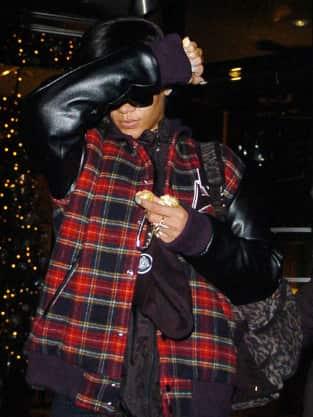 Rihanna Emerges in London