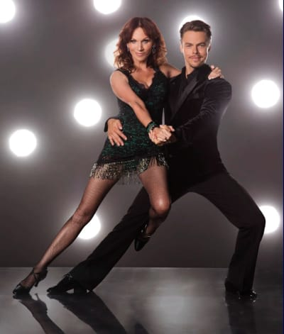 Marilu Henner and Derek Hough