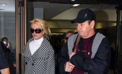 Britney Spears Touches Down at LAX