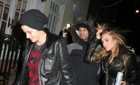 Lindsay Lohan and Samantha Ronson Get Quiet