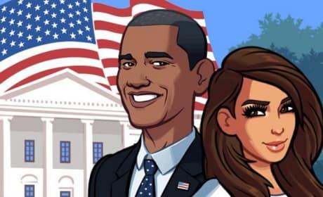 Kim Kardashian and Barack Obama