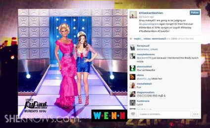 Khloe Kardashian Poses as Sailor, Shows Off Major Cleavage
