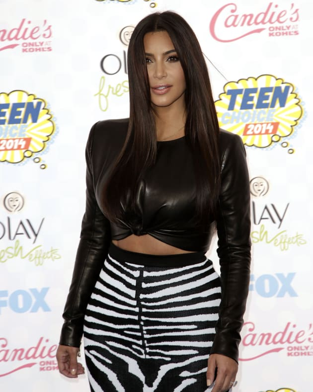 Kim Kardashian at the 2014 Teen Choice Awards
