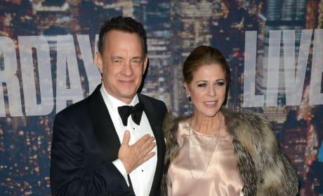 Tom Hanks and Rita Wilson at SNL 40