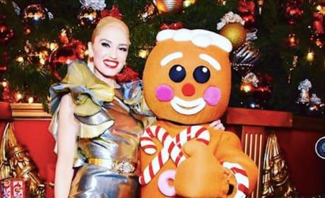 Gwen Stefani with Gingerbread Man