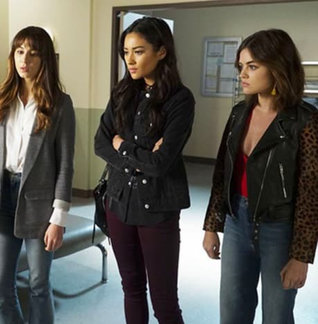 Spencer, Aria and Emily