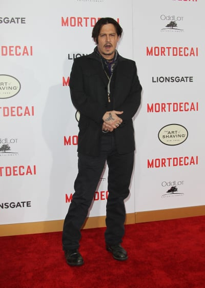 Johnny Depp Mortdecai Premiere Photo