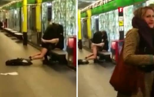 Public sex on subway