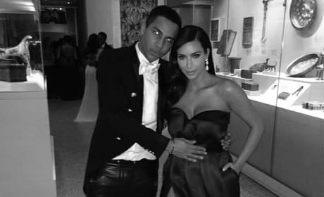 Kim Kardashian and Olivier Rousteing