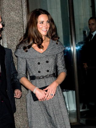 Kate Middleton, Gray Dress