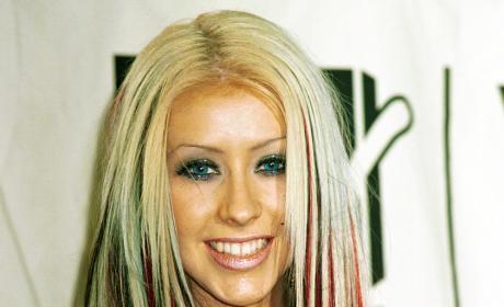 Christina Aguilera Multi-Colored Hair