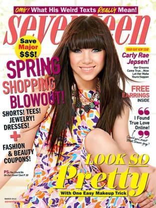 Carly Rae Jepsen Seventeen Cover