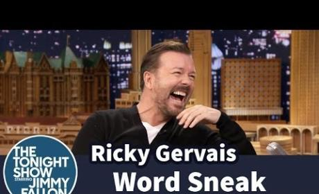 Ricky Gervais and Jimmy Fallon Play Word Sneak