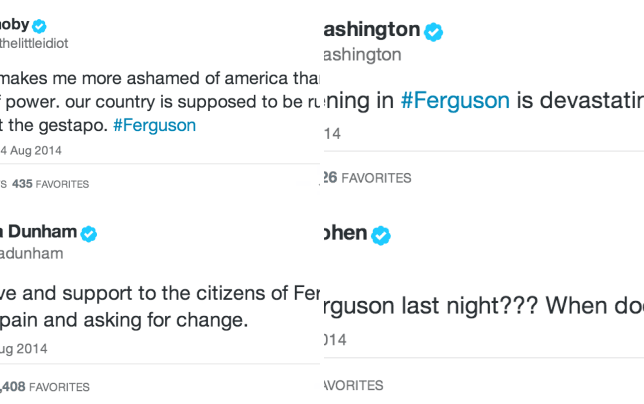 Celebrities react to ferguson missouri moby