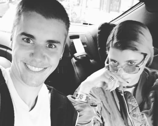 Sofia Richie and Justin Bieber in Tokyo