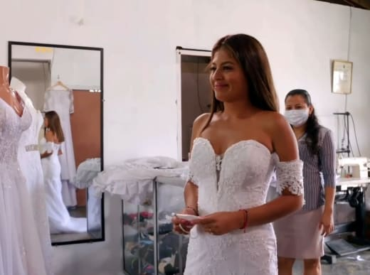 Evelin Villegas in a bridal shop on 90 Day Fiance The Other Way Season 3 trailer
