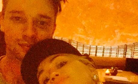 Miley Cyrus, Patrick Schwarzenegger Selfie