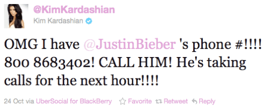Kim Kardashian Cheating Tweet