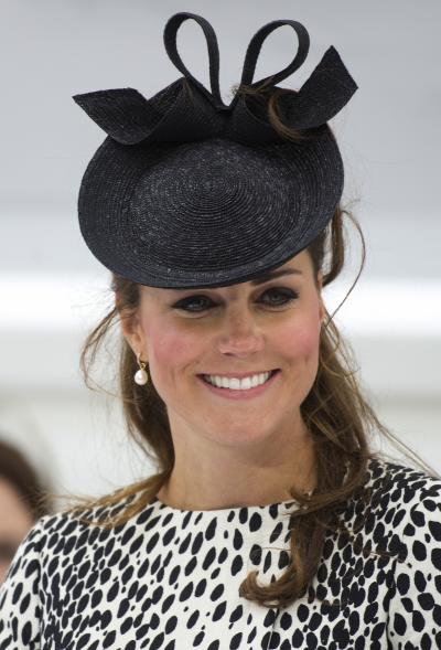 Kate Middleton in a Black Hat