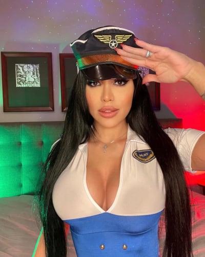 Larissa Lima as a Sexy Pilot
