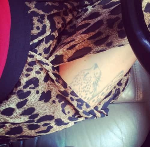Jenelle Evans Thigh Tattoo