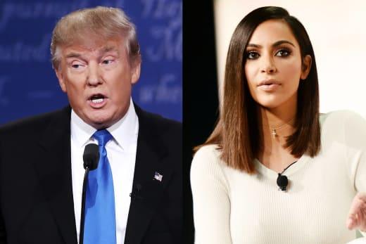 Donald Trump-Kim Kardashian