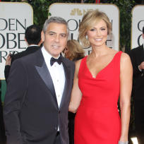 George Clooney and Stacy Keibler on the Red Carpet